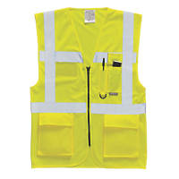"Hi-Vis Executive Waistcoat Yellow Medium 40-41"" Chest"