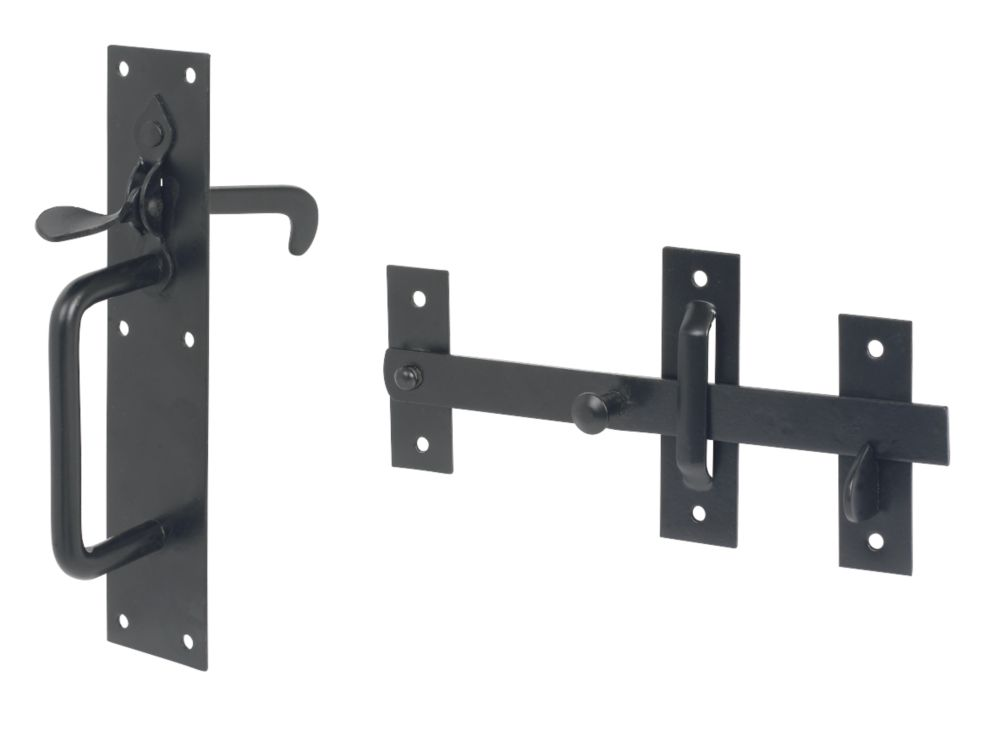 Suffolk Gate Latch Black 180 x 45mm