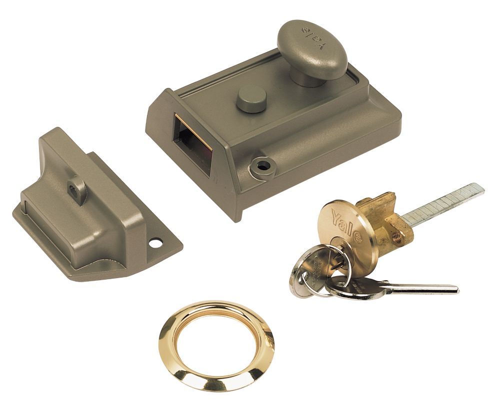 Yale Night Latch Bronze 60mm Backset