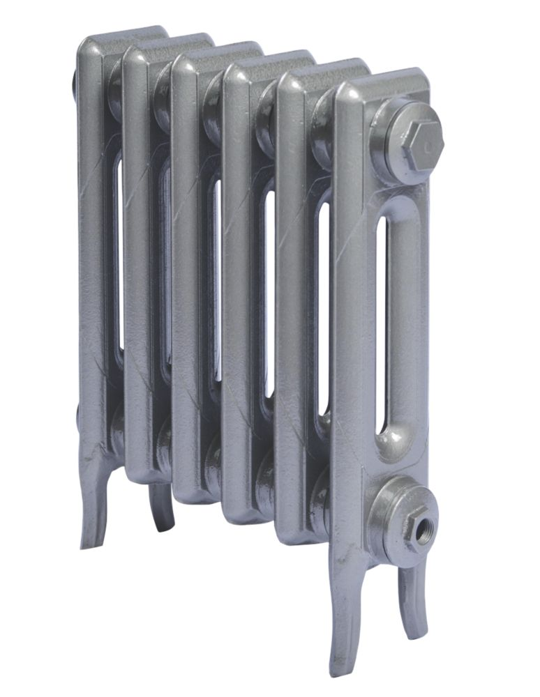 Cast Iron 460 Designer Radiator 2-Column Gun Metal Grey H: 460 x W: 397mm