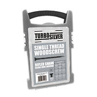 Turbo Silver Woodscrews Grab Pack Double Self Countersunk 1000 Pcs