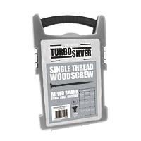 Turbo Silver PZ Double Self-Countersunk Woodscrews Grab Pack 1000 Pcs