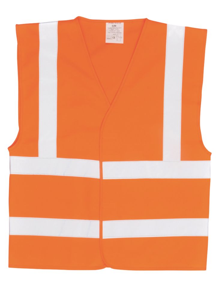 "Hi-Vis Waistcoat Orange Small / Medium 47"" Chest"