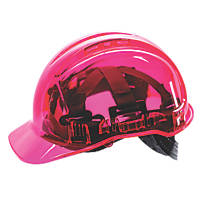 Portwest Peakview Translucent Vented Safety Helmet Pink