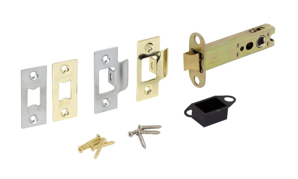 Double Sprung Mortice Latch Brass & Chrome 102mm