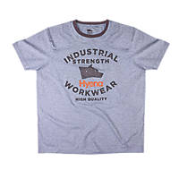 "Hyena Tor Tor T-Shirt Grey Marl X Large 45-48"" Chest"