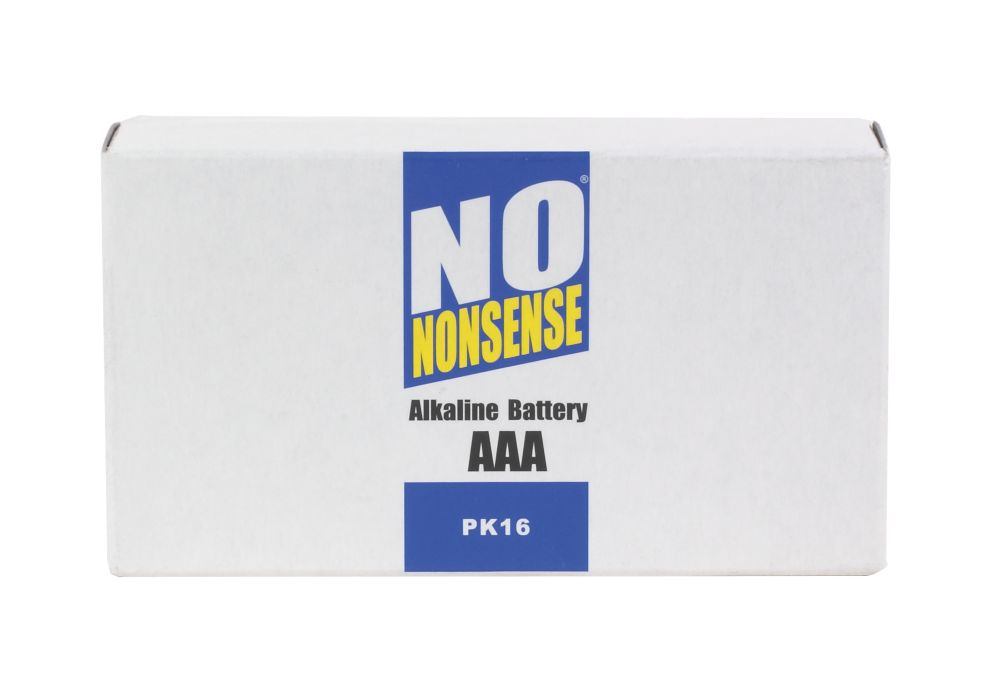 No Nonsense Alkaline Batteries AAA Pack of 16
