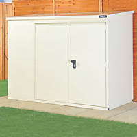 Asgard Addition All-Metal Bike Store with Assembly Ivory 1.8 x 0.9m