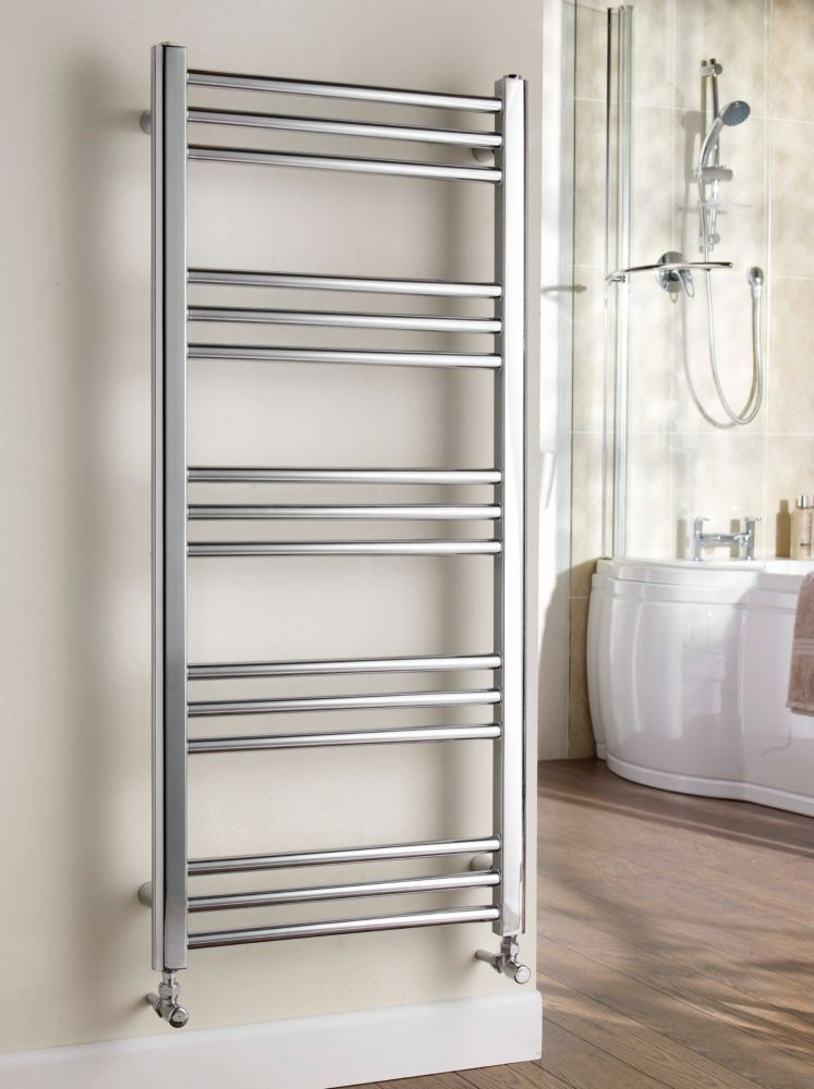 Kudox Timeless Designer Towel Radiator Chrome 500 x 1100mm 267W 911Btu