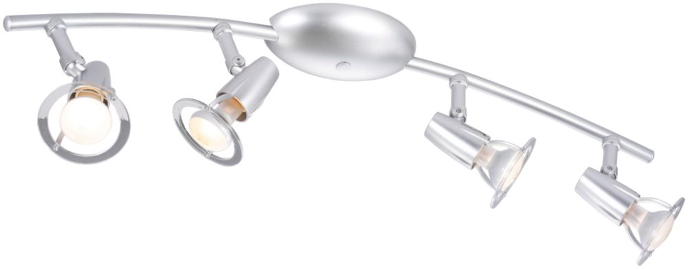 Shuttle Silver 4-Light Spotlight