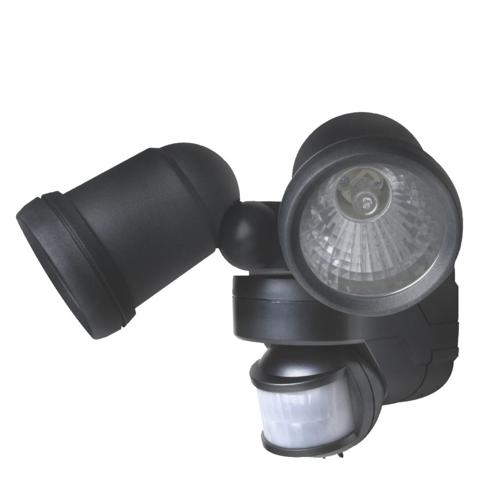 Pro Twin PIR Spotlight Graphite Sensor Controlled 2 x 42W