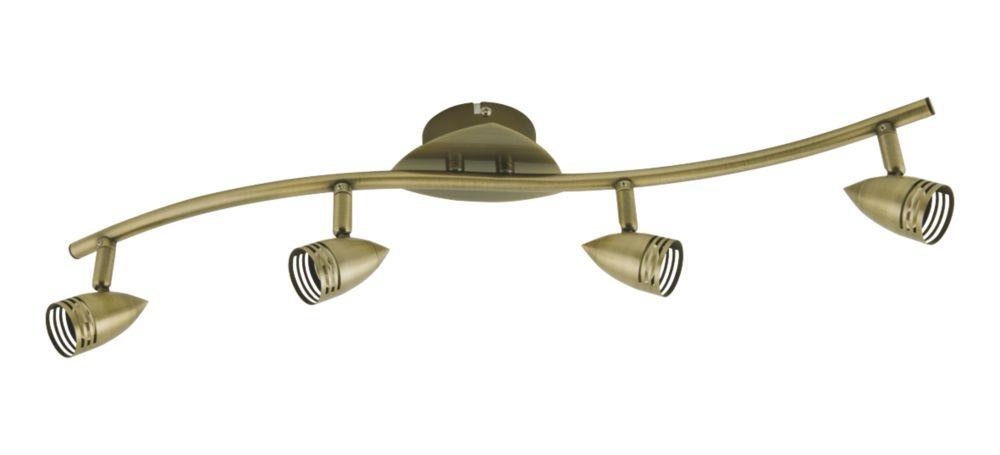 Antique Brass 4-Light Spotlight