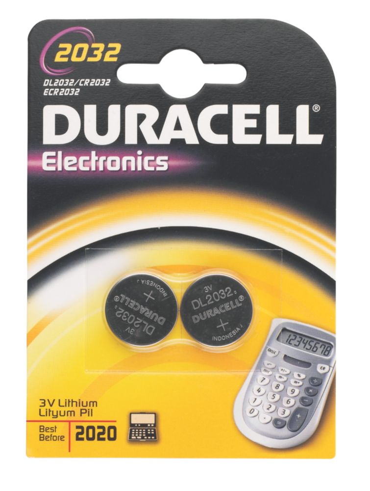 Duracell 2032 Li-Ion Coin Cell Batteries Pack of 2