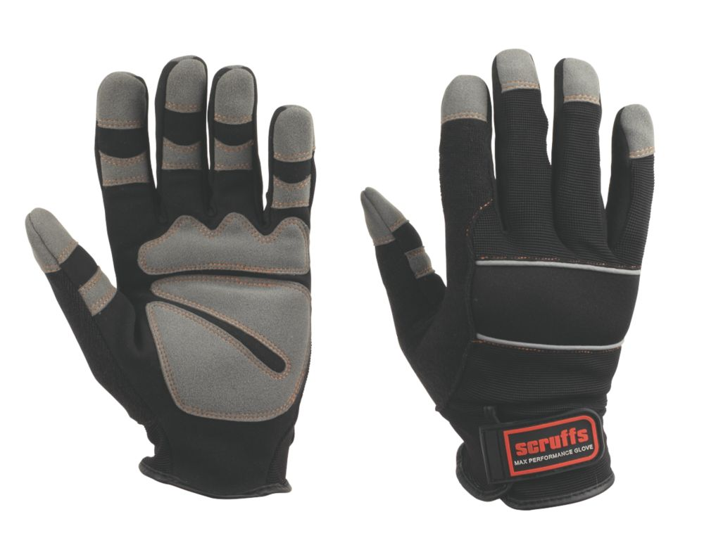 Scruffs Max Performance Specialist Handling Full Gloves Black Large