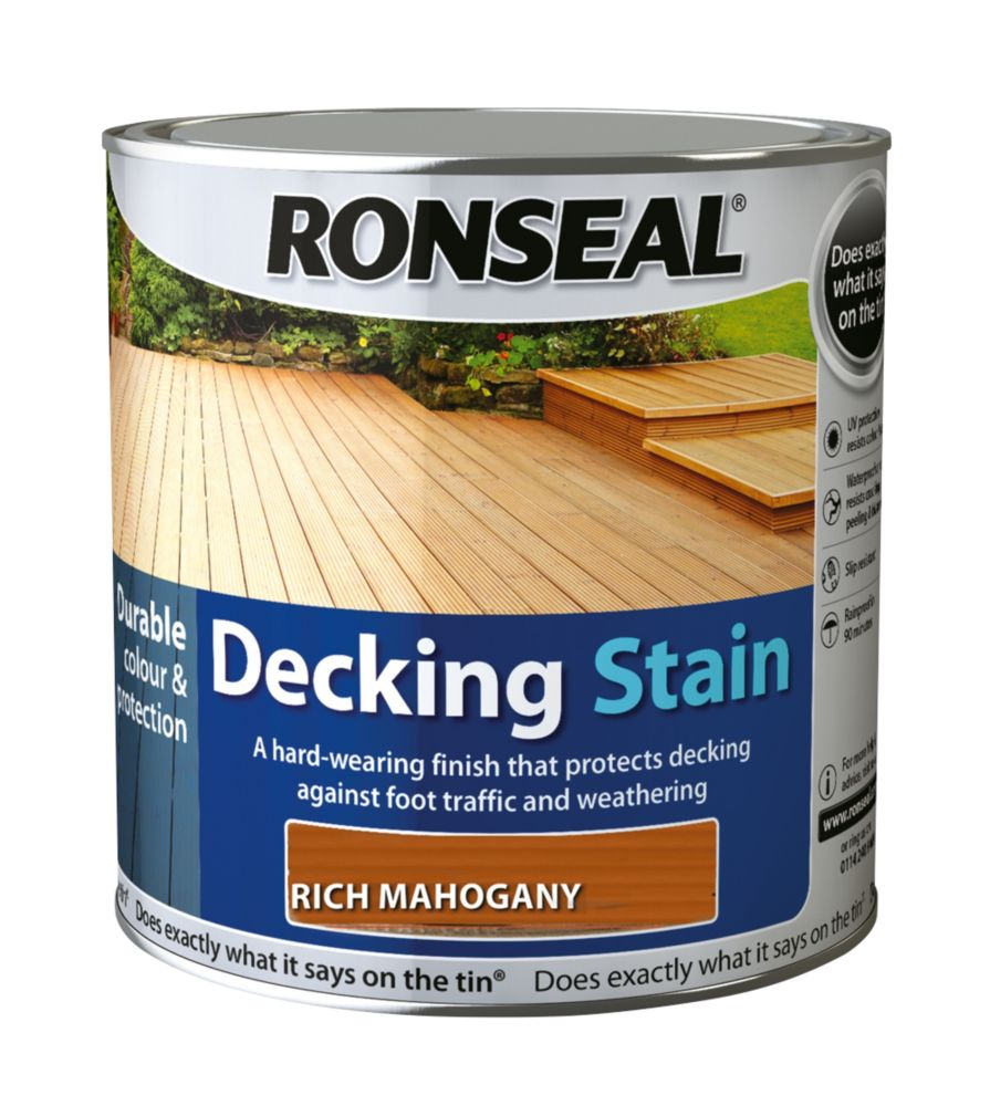 Ronseal Decking Stain Rich Mahogany 2.5Ltr