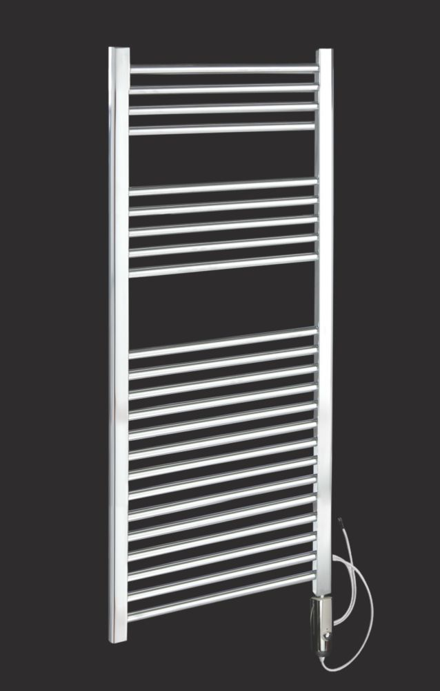 Kudox Thermostatic Flat Towel Radiator Chrome 1100 x 500mm 250W 853Btu