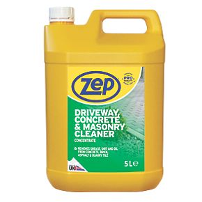 Zep commercial driveway concrete masonry cleaner for Deck and concrete cleaner