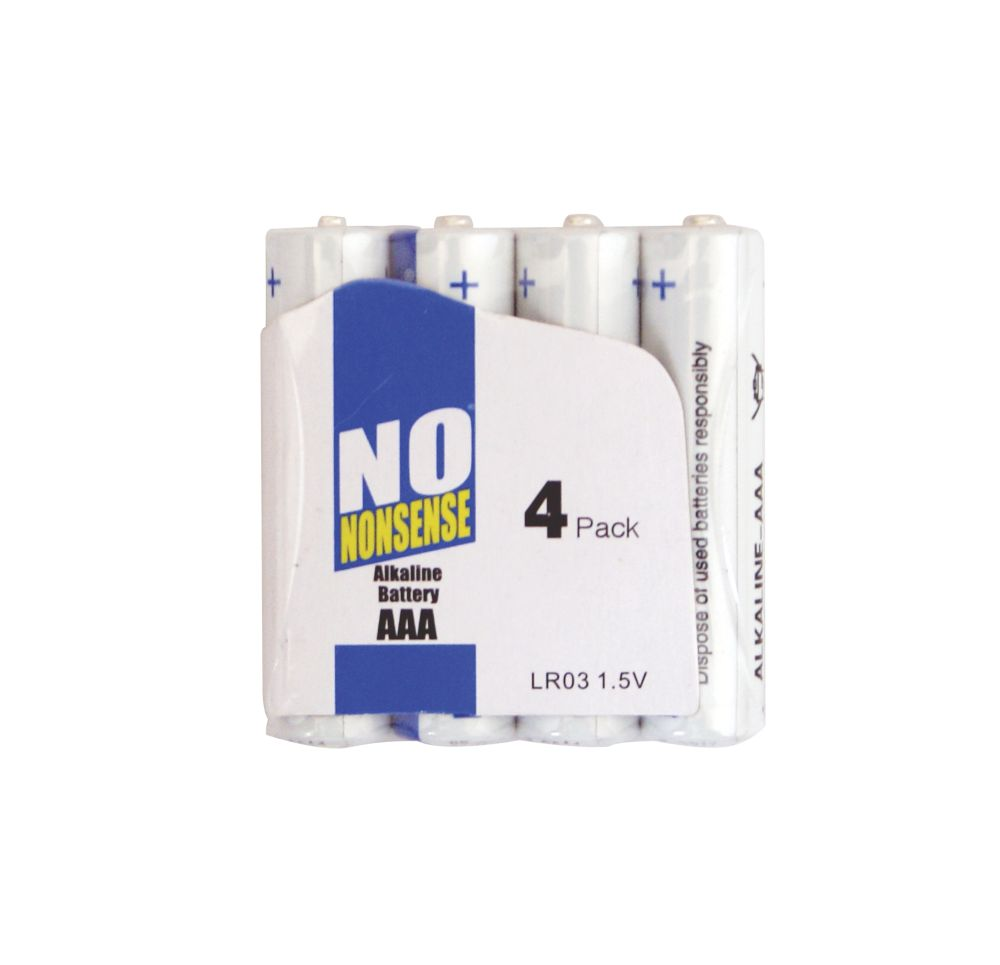 No Nonsense Alkaline Batteries AAA Pack of 4