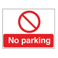 """No Parking"" Sign & Stanchion Frame 450 x 600mm"
