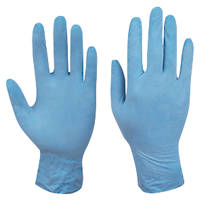 Cleangrip  Latex Powdered Disposable Gloves Blue Medium 100 Pack