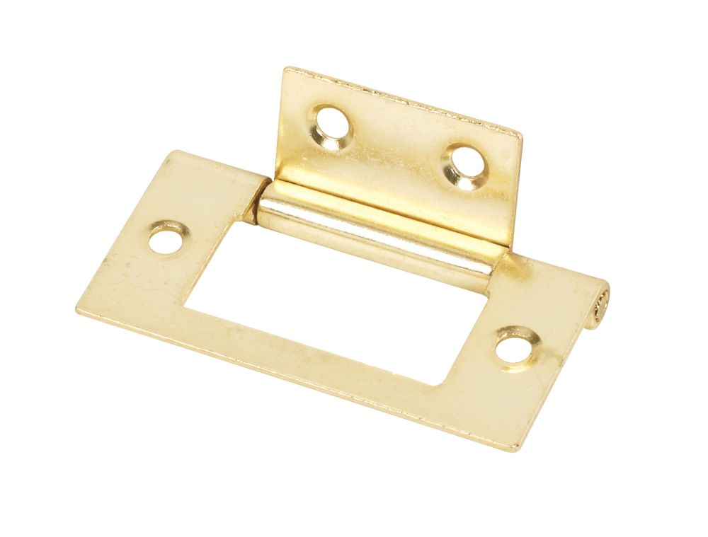 Flush Hinge Electro Brass 51 x 25 x 1mm Pack of 20