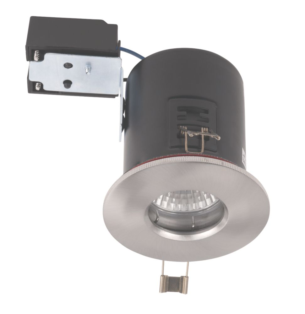 JCC Fireguard Fixed Fire Rated Recessed Shower Downlight Brsh. Chrome 240V