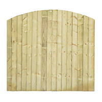 Grange Dome Feather Edge Fence Panels 1.8 x 1.7m 3 Pack