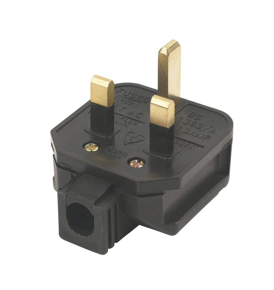 Tough Black Plug 13A
