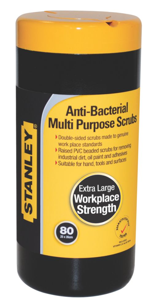 Stanley Heavy Duty Anti-Bacterial Multipurpose Scrubs Pack of 80