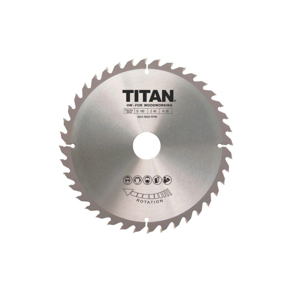 Titan TCT Circular Saw Blade 40T 190 x 16/20/30mm