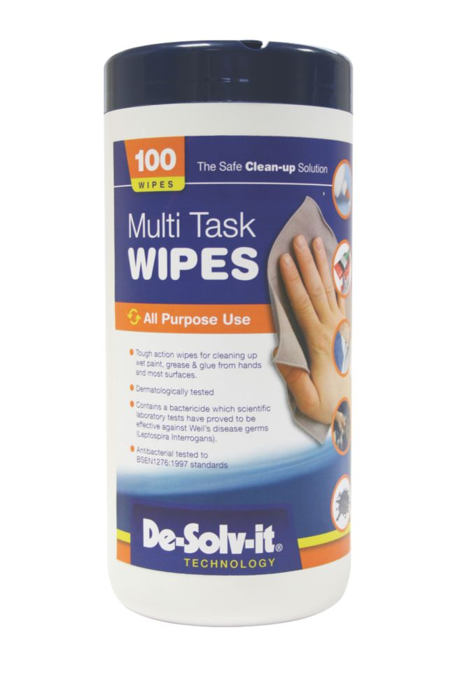 De.Solv.It Multi Task Wipes Pack of 100