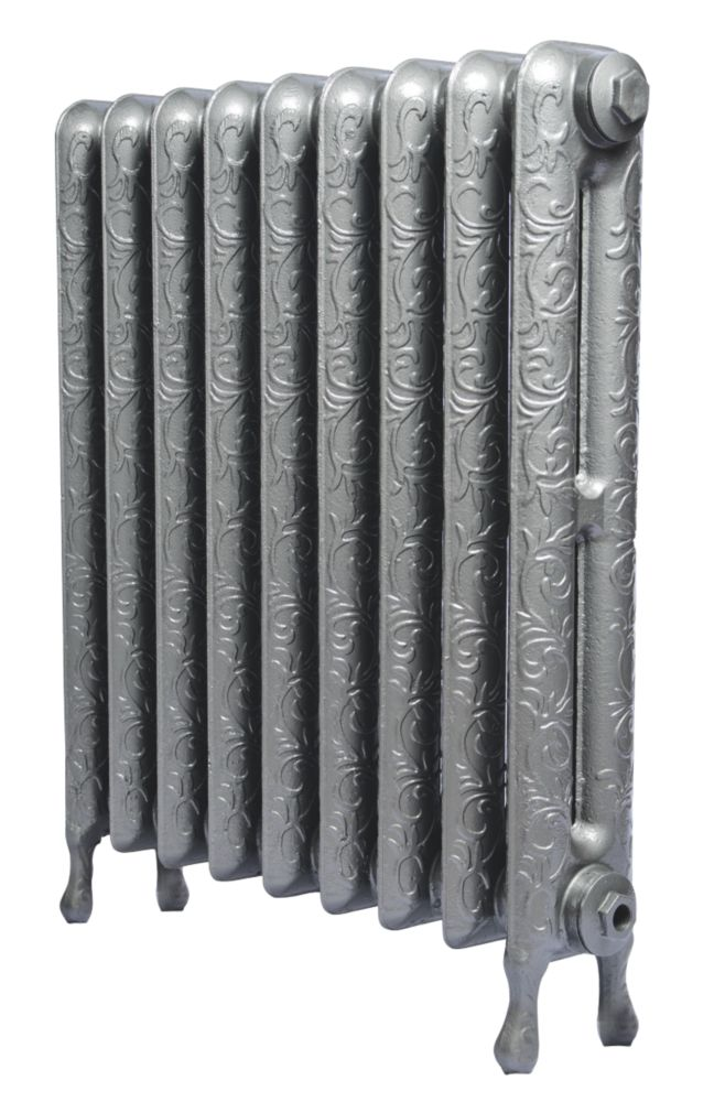 Cast Iron Art Nouveau 750 Designer Radiator Gun Metal Grey 750 x 889mm