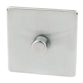 Crabtree 1G 2W Dimmer Brushed Chrome 250W