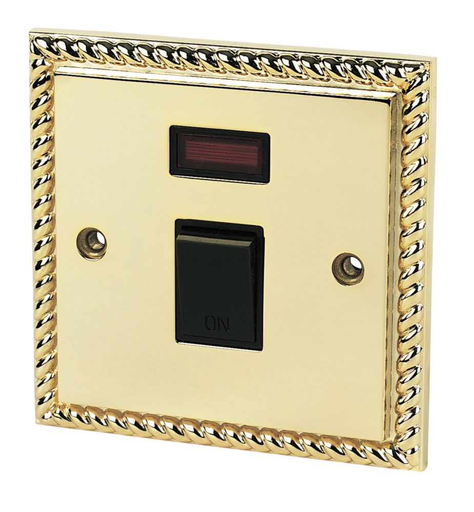 20A DP Switch & Neon Georgian Brass
