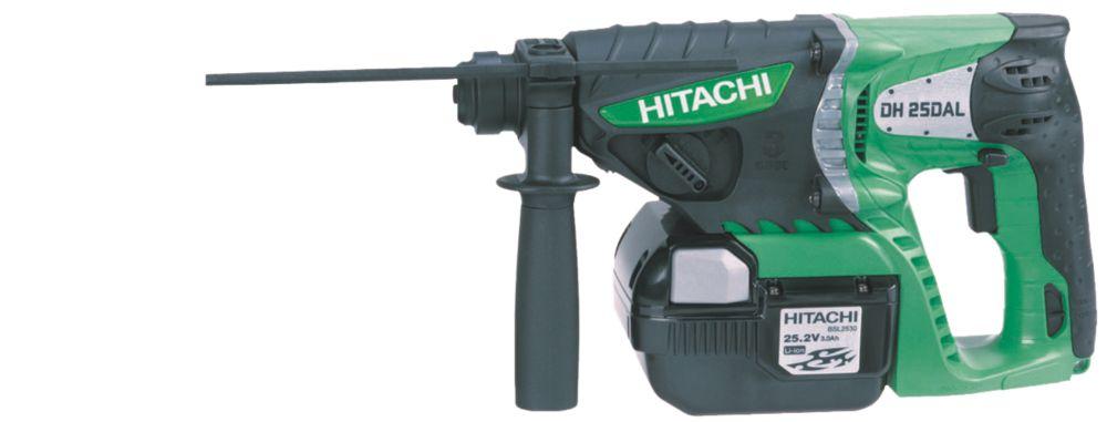 Hitachi DH25DAL 3.6kg 2.6Ah Li-Ion Cordless SDS Plus Drill 25.2V