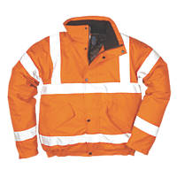 "Portwest Hi-Vis Bomber Jacket Orange X Large 46-48"" Chest"