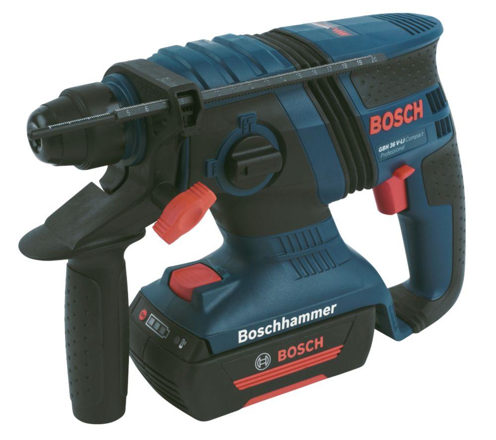 Bosch GBH36V-LiCP 2.9kg 1.3Ah Li-Ion Cordless SDS Plus Drill 36V & 8 Bits