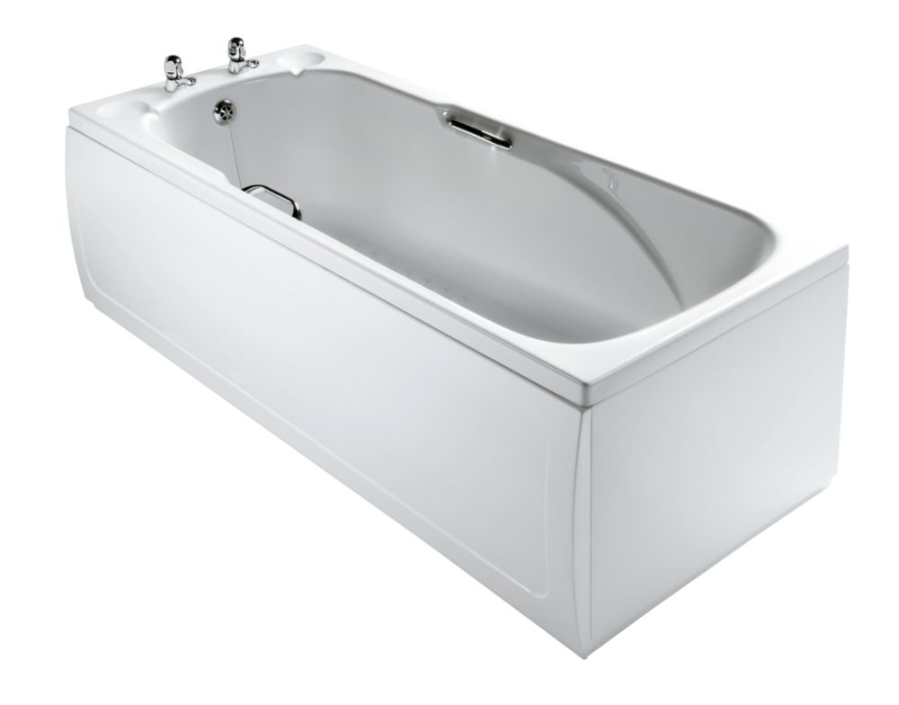 Sandringham Modern Bath Acrylic 2 Tap Hole 1700mm