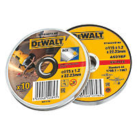 DeWalt Metal Cutting Discs 115 x 1.2 x 22.2mm 10 Pack