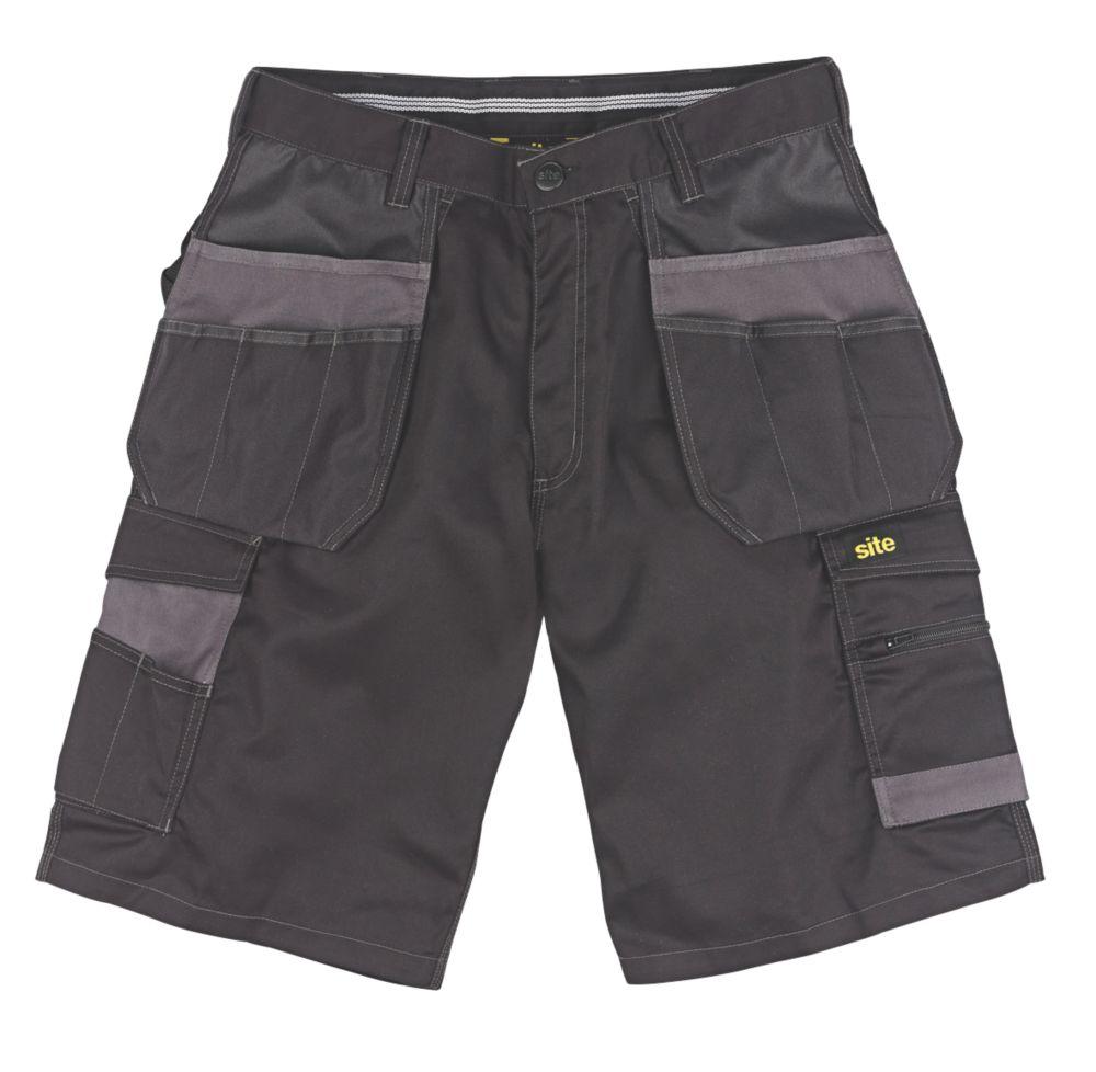 """Site Hound Multi-Pocket Shorts Black 32"""" W"""