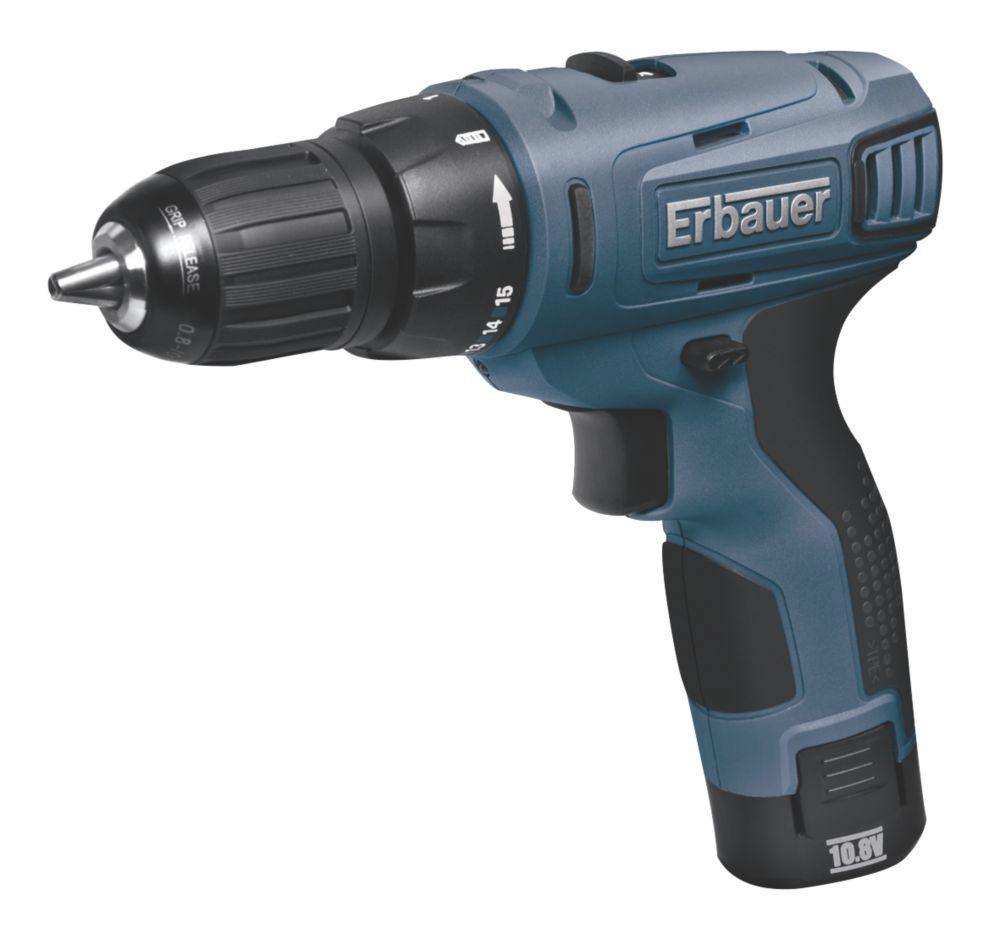 Erbauer ERP407DDH 10.8V 1.3Ah Li-Ion Cordless Drill Driver