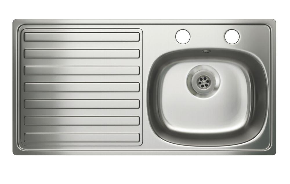 Carron Phoenix Stainless Steel 1 Bowl Kitchen Sink with LH Drainer