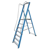 Lyte Widestep Platform Step Ladder Fibreglass 7 Treads 2.47m