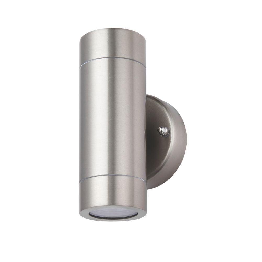Screwfix Outdoor Wall Lights : LAP Bronx Outdoor Up & Down Wall Light Stainless Steel Outdoor Wall Lights Screwfix.com