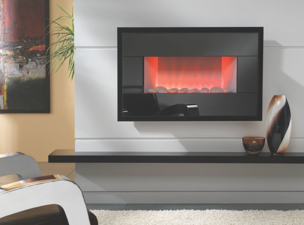Focal Point Piano Wall-Hung Electric Fire Black 2kW
