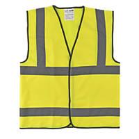 "Hi-Vis Waistcoat Yellow Large 50"" Chest"