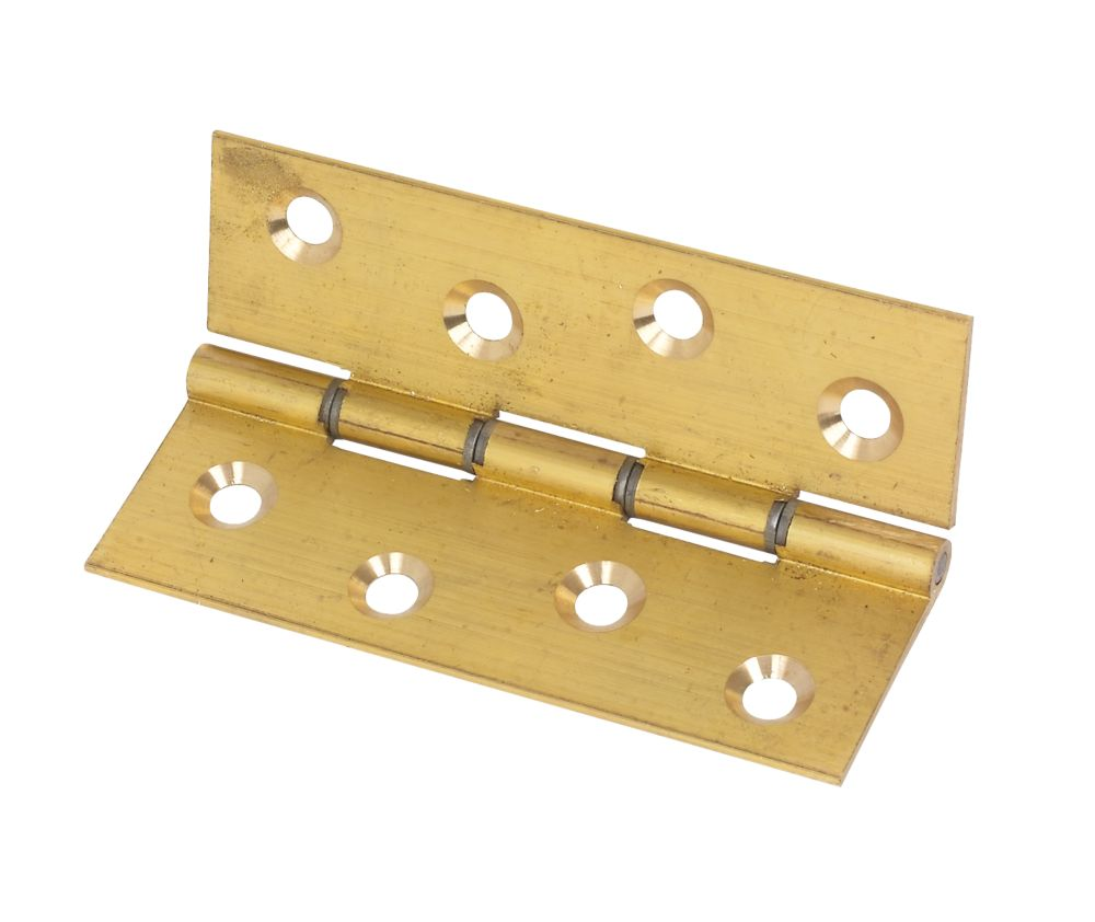 Washered Hinge Self Color Brass 102 x 67mm Pack of 2