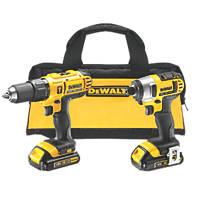 DeWalt DCZ298C2-GB 18V 1.3Ah XR Li-Ion Cordless Combi Drill & Impact Driver