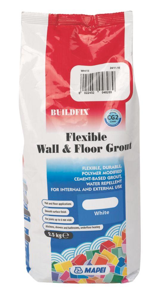 Mapei BuildFix Flexible Wall & Floor Grout White 2.5kg