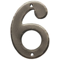Carlisle Brass Ludlow Door Numeral 6, 9 Pewter Effect